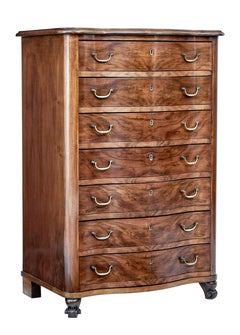Mid 20th Century walnut tall chest of drawers
