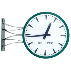 Mid-20th Century Westerstrands Swedish Industrial Station Clock