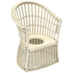Mid-20th Century Wicker Potty Seat