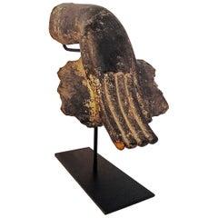 Mid-20th Century Wood Buddha Hand
