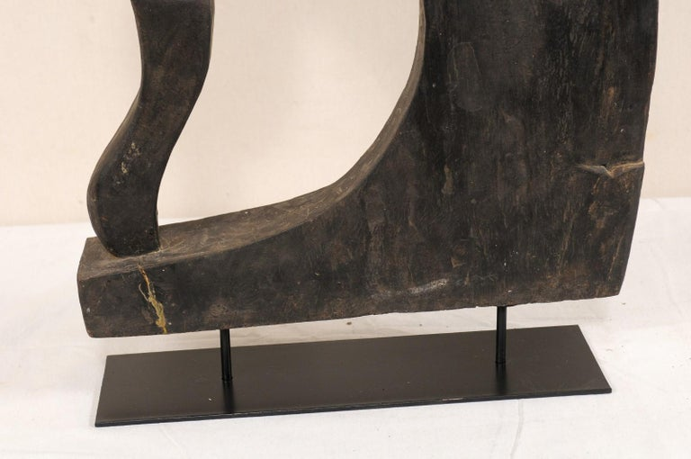 Metal Mid-20th Century Wooden Boat Prow from India For Sale