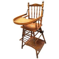 Mid-20th Century Wooden, French, High Chair or Merry-Go-Round, 1940