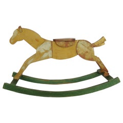 Mid-20th Century Wooden Rocking Horse