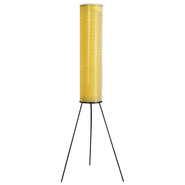 Mid-20th Century Yellow Plastic Floor Lamp