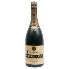 Plaster and Papier Mâché Oversized Advertising Mercier Champagne Bottle