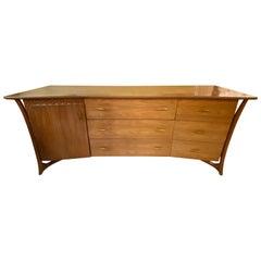 Mid-Century Modern Piet Hein American Modern Walnut Dresser, Inverted Front
