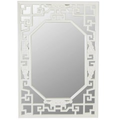 Midcentury Lacquered Asian Wall Mirror