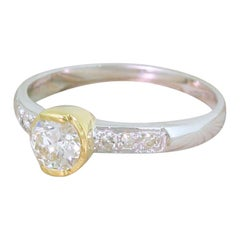 Midcentury 0.57 Carat Old European Cut Diamond Ring