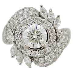 Mid-Century 1.42ct Diamond Gold Engagement Ring