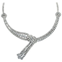 Mid Century 18 Carat Diamond Necklace