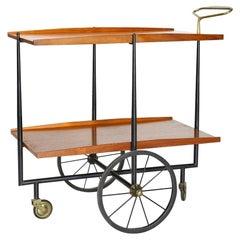 Mid-Century 1950s Italian Cesare Lacca Bar Cart