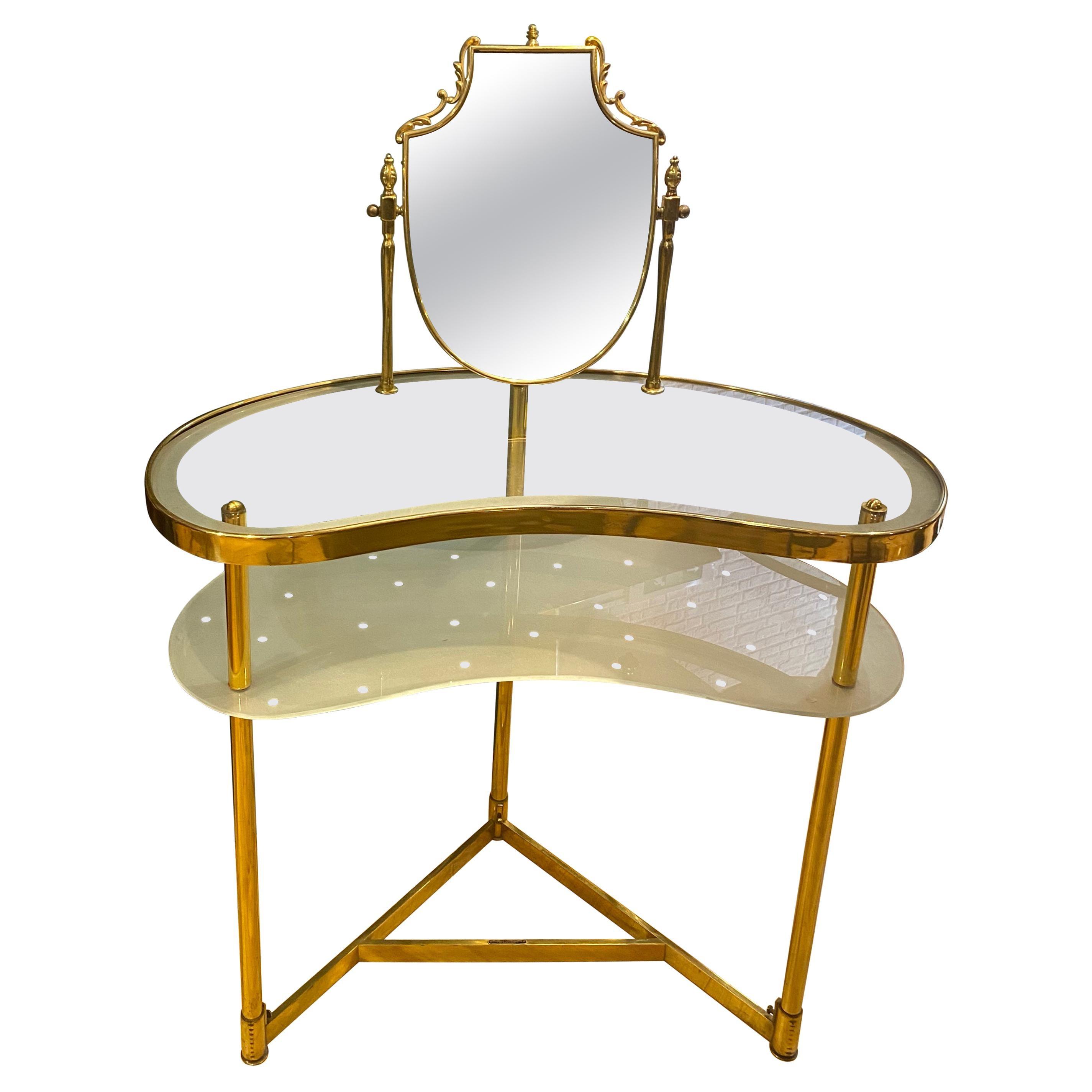 Mid-Century 1950s Italian Curved Vanity Table