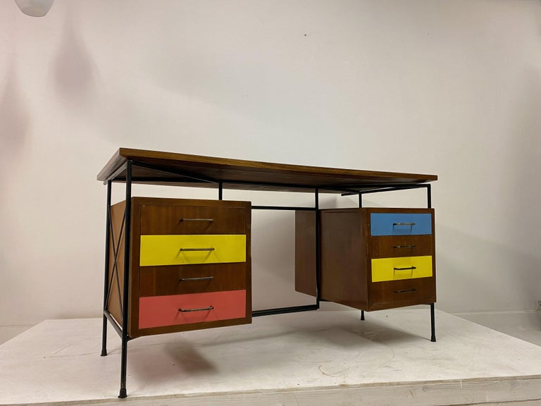 Midcentury 1950s Italian Desk by Giuseppe Postiglione In Good Condition For Sale In London, London