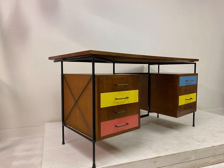 20th Century Midcentury 1950s Italian Desk by Giuseppe Postiglione For Sale