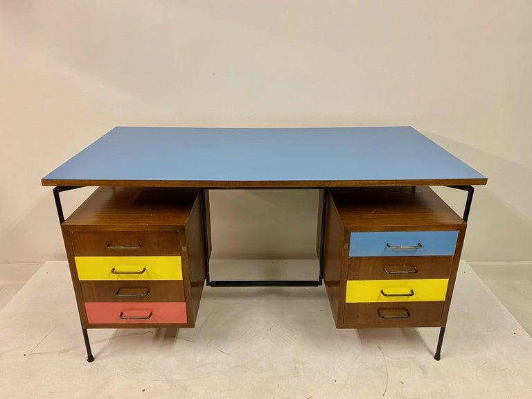 Laminate Midcentury 1950s Italian Desk by Giuseppe Postiglione For Sale