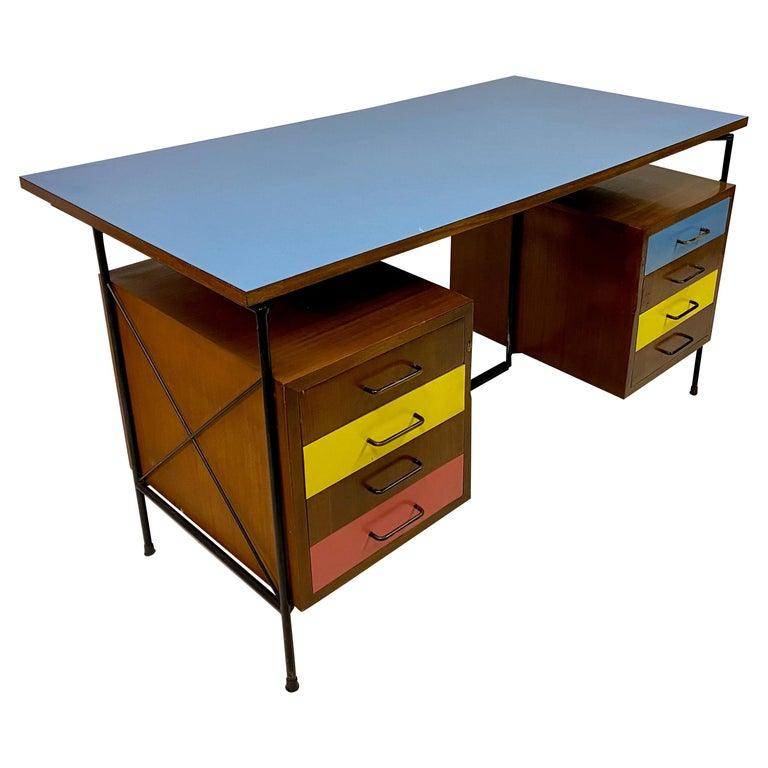 Midcentury 1950s Italian Desk by Giuseppe Postiglione For Sale