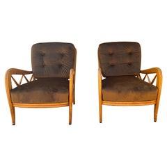 Mid-Century 1950s Italian Paolo Buffa Lounge Chairs