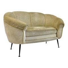 Midcentury 1960s Italian Two-Seat Sofa
