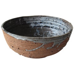 Mid Century 1960s Studio Pottery Bowl by Joel Edwards