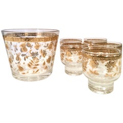 Mid-Century 22-Karat Gold Drinks Set of Six Pieces by Culver