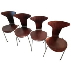 Mid Century 3105 Mosquito Chairs by Arne Jacobsen for Fritz Hansen, Set of 4