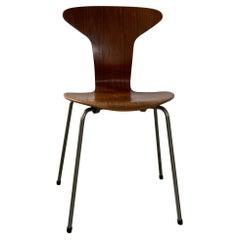 Mid Century 3105 Side Teak Chair Mosquito by Arne Jacobsen for Fritz Hansen