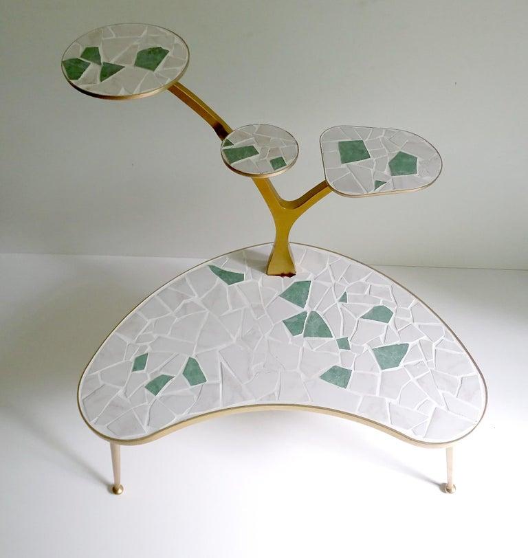 Mid-Century Modern Midcentury 4-Tier Tree Plant Stand Planter Shelf, Stilnovo Gio Ponti Era For Sale