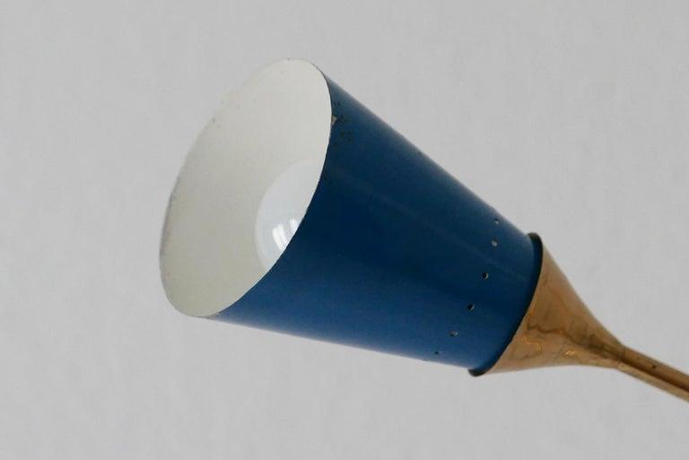 Midcentury 5-Arm Sputnik Chandelier or Pendant Lamp by Arredoluce, 1950s, Italy For Sale 8