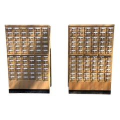 Midcentury 72-Drawer Library Card Catalogs