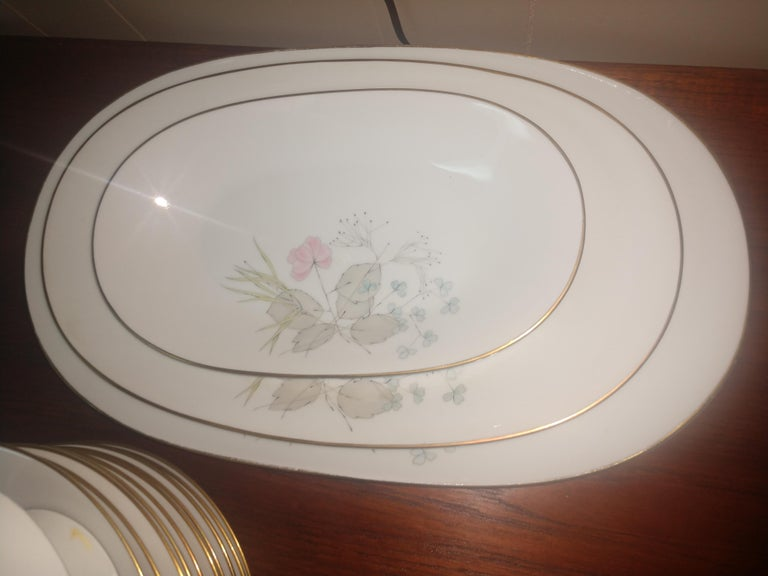 Hand-Crafted Mid Century 99 Piece Set of Porcelain China Rosenthal Parisian Spring Germany For Sale