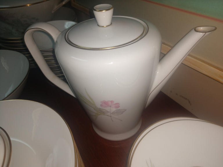 Mid Century 99 Piece Set of Porcelain China Rosenthal Parisian Spring Germany For Sale 1