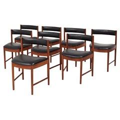 Mid Century A. H. McIntosh 4103 Teak Dining Chairs, Set of 8