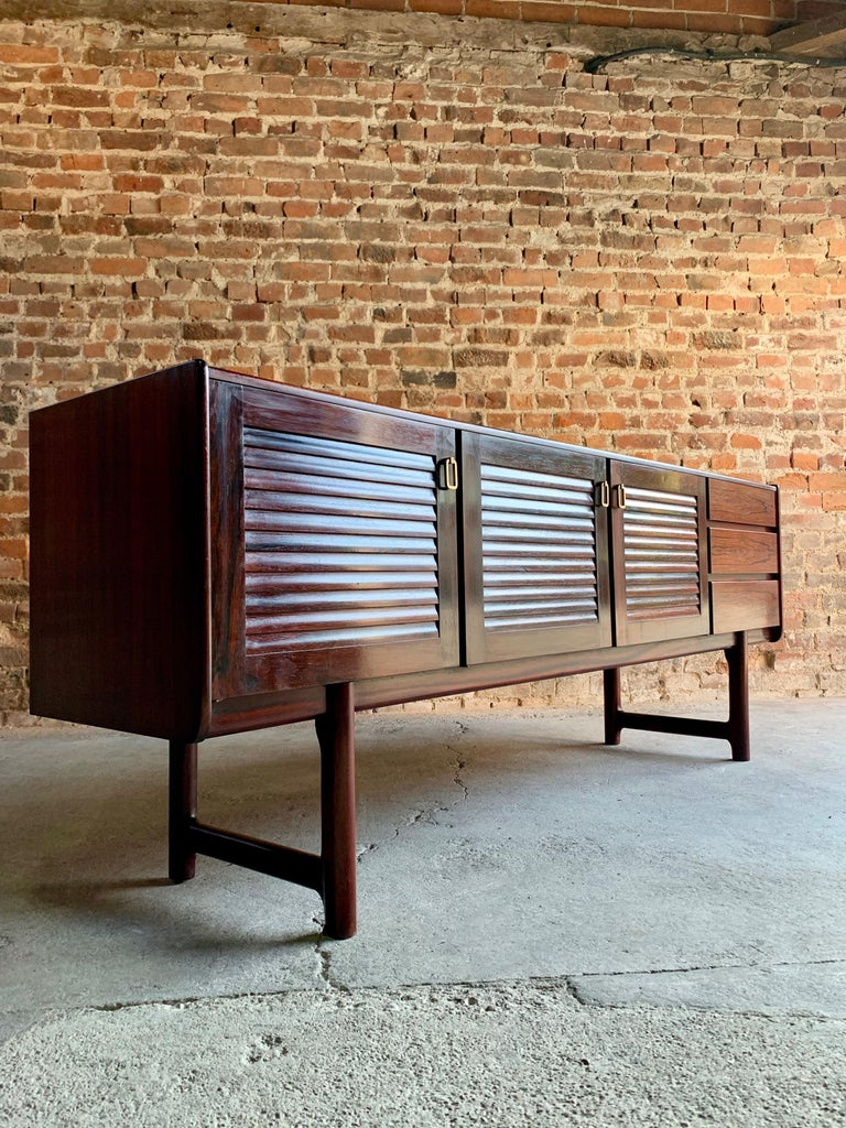 Mid-Century Modern Midcentury A. H. McIntosh & Co. of Kirkcaldy Rosewood Sideboard Credenza, 1970s For Sale