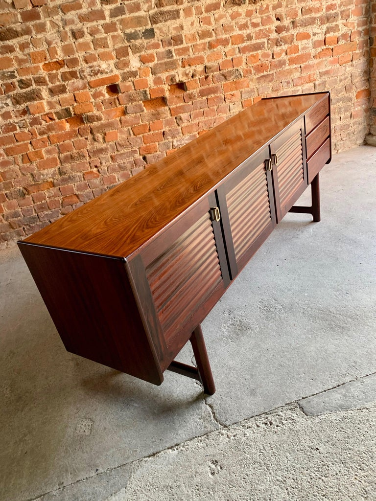 British Midcentury A. H. McIntosh & Co. of Kirkcaldy Rosewood Sideboard Credenza, 1970s For Sale