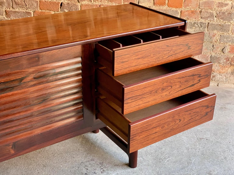 Late 20th Century Midcentury A. H. McIntosh & Co. of Kirkcaldy Rosewood Sideboard Credenza, 1970s For Sale