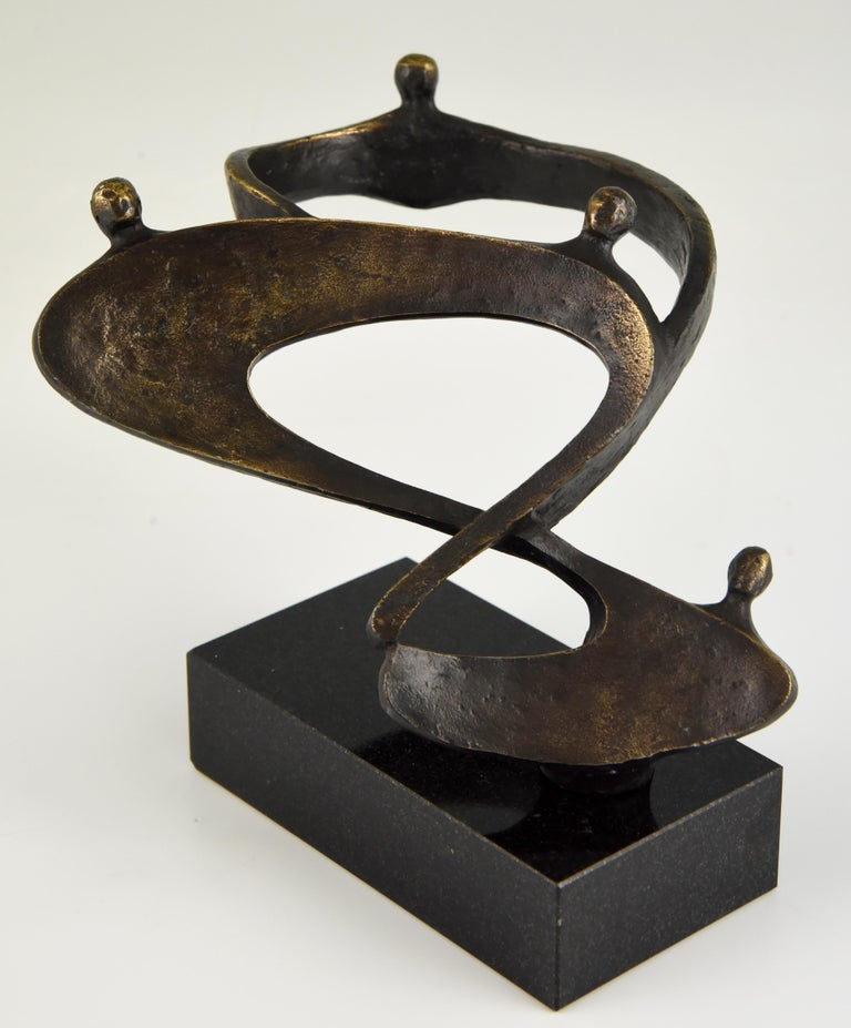 Midcentury Abstract Bronze Sculpture Can For Sale 1