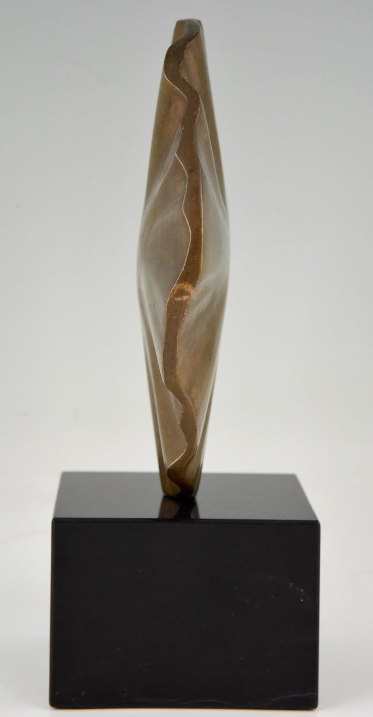 Italian Midcentury Abstract Bronze Sculpture Claudio Capotondi  Italy  1979 For Sale