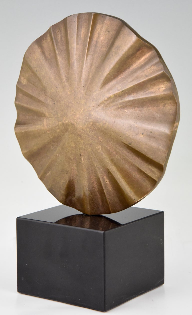 Patinated Midcentury Abstract Bronze Sculpture Claudio Capotondi  Italy  1979 For Sale