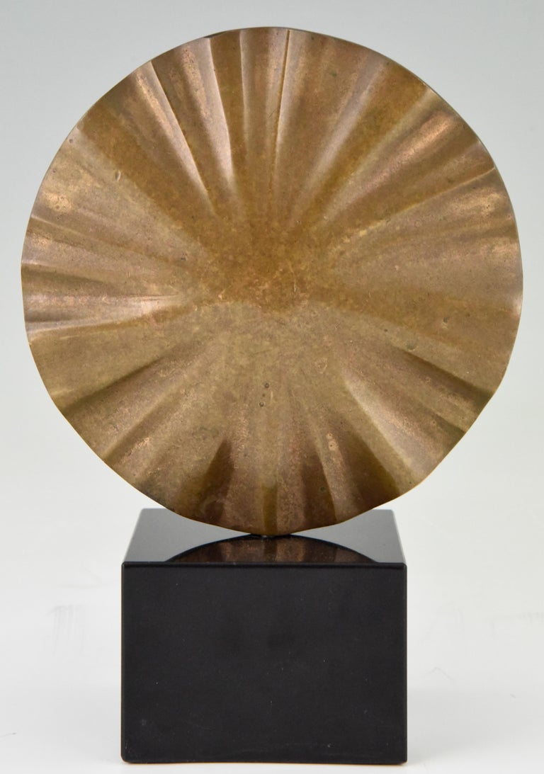 Midcentury Abstract Bronze Sculpture Claudio Capotondi  Italy  1979 In Good Condition For Sale In Antwerp, BE