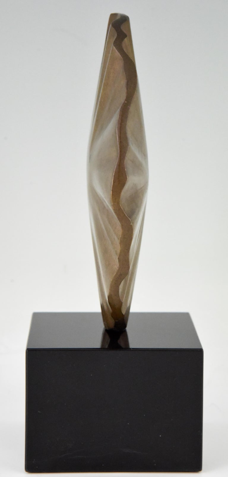 Midcentury Abstract Bronze Sculpture Claudio Capotondi  Italy  1979 For Sale 1