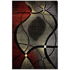 Mid-Century Abstract Design Carpet