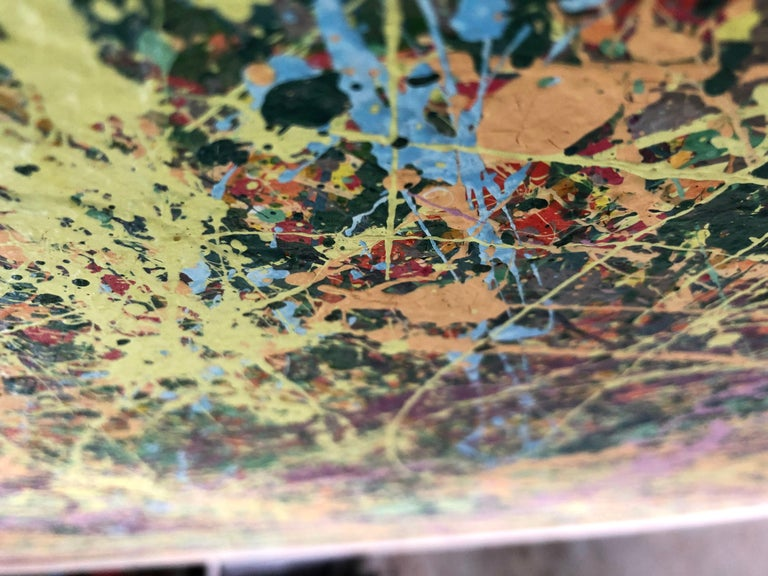 American Midcentury Abstract Drip Painting For Sale