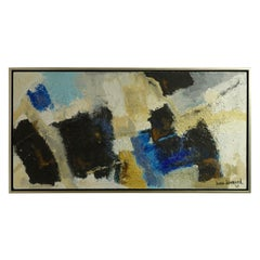 Midcentury Abstract Mixed-Media Painting by Diana Diamond, California, 1968