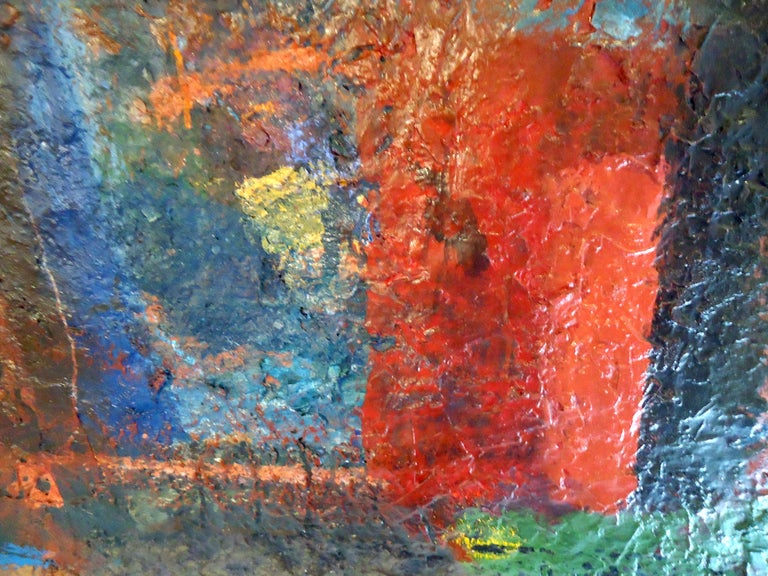 Mid-Century Modern Midcentury Abstract Painting Signed by Artist For Sale