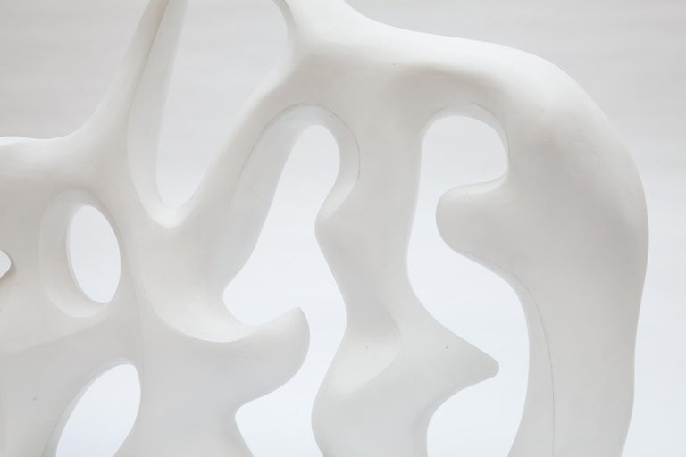 Mid-Century Modern Midcentury Abstract White Sculpture, 1980s For Sale