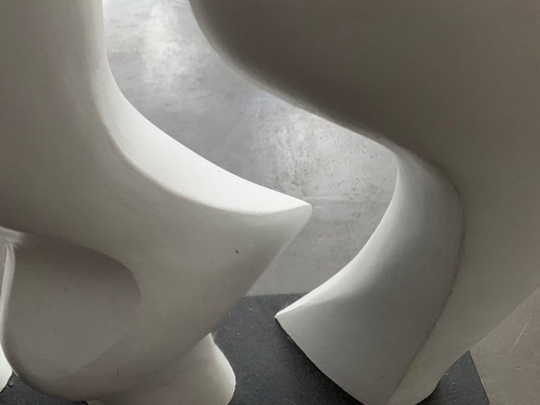 Late 20th Century Midcentury Abstract White Sculpture, 1980s For Sale