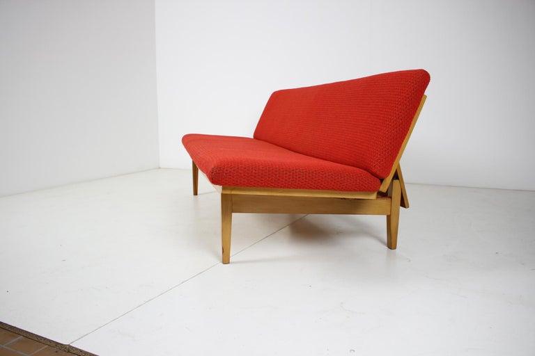 Czech Midcentury Adjustable Sofa, 1960s For Sale
