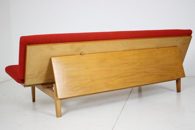 Wood Midcentury Adjustable Sofa, 1960s For Sale