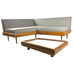Midcentury Adrian Pearsall Boomerang 1700 Sofa with Table 1705 Craft Associates