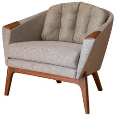 Midcentury Adrian Pearsall Walnut Lounge Chair for Craft Associates